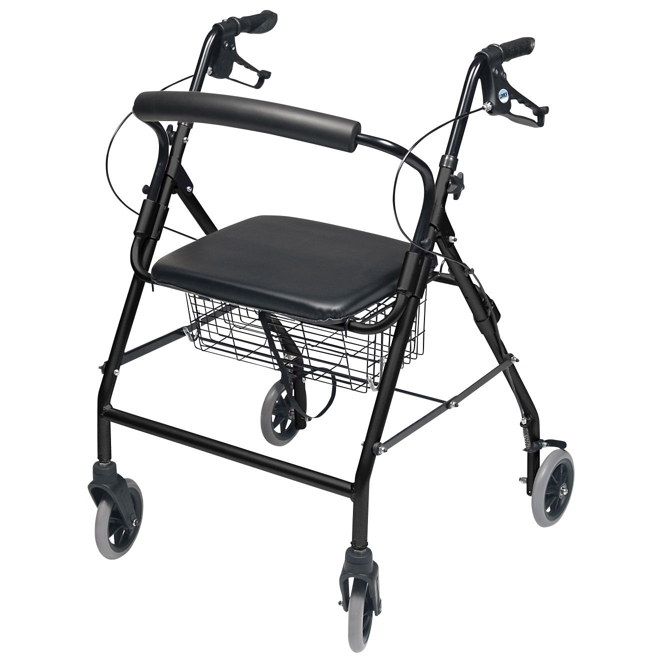 Rollator Alum Wide (Color Black) Walkabout Wide